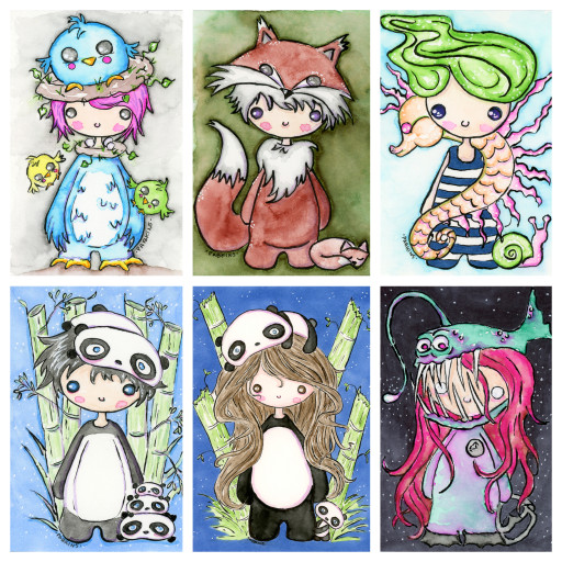 Chibi series collage 1