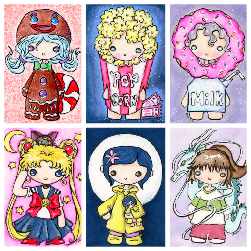 Chibi series collage 2