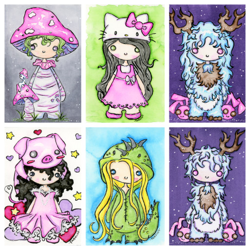 Chibi series collage 3