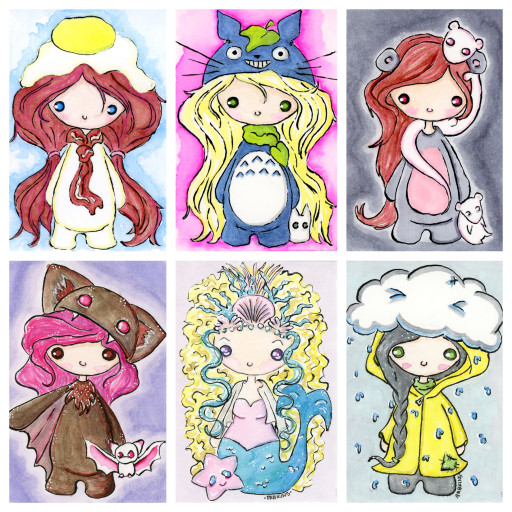 Chibi series collage 4