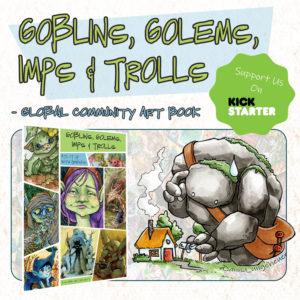 Kickstarter - Goblins, Golems, Imps & Trolls Art Book @ Kickstarter.com